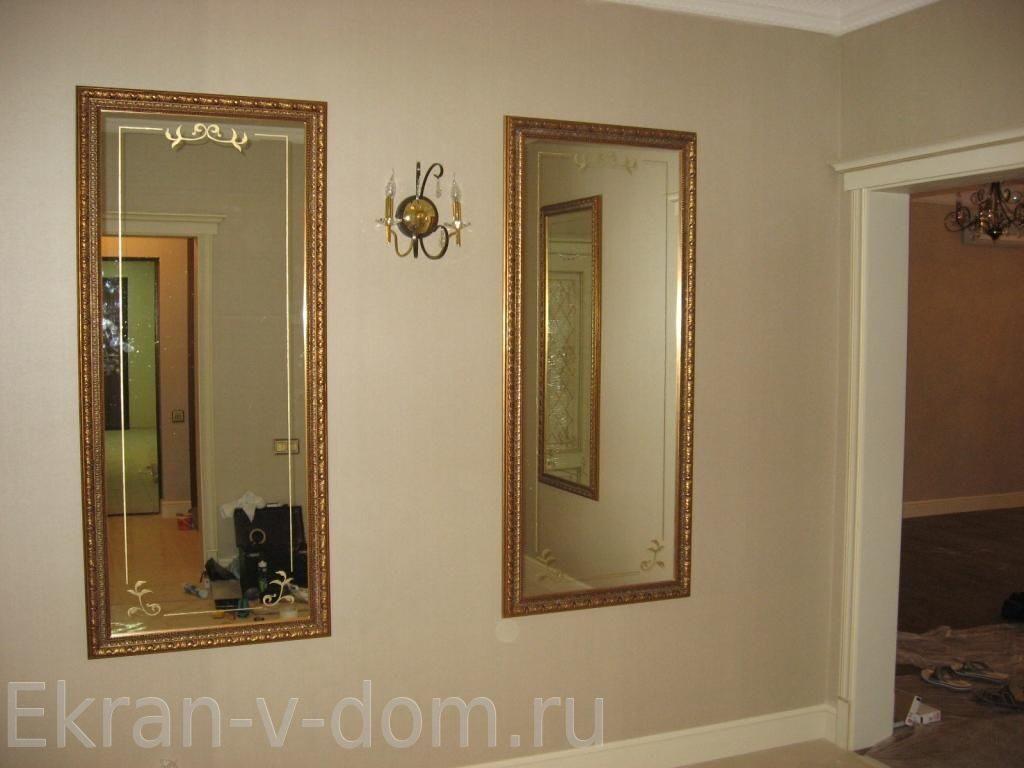 Зеркало в прихожую из багет своими руками